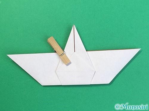 折り紙で鶴リースの作り方手順36