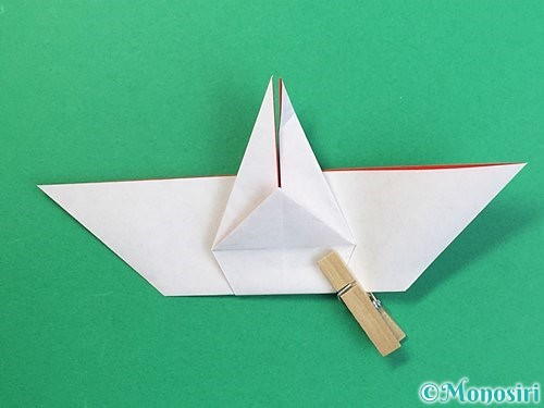 折り紙で鶴リースの作り方手順38