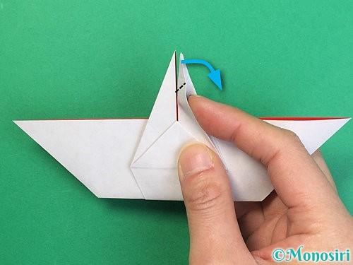 折り紙で鶴リースの作り方手順39