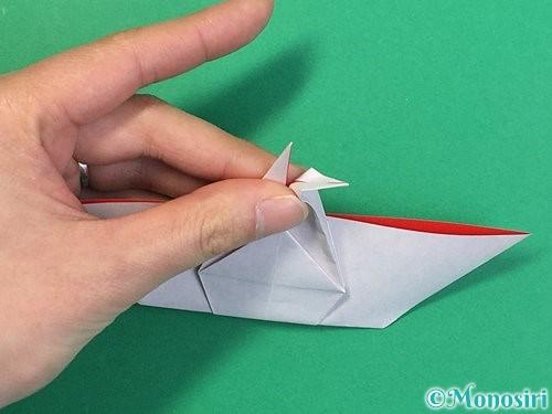 折り紙で鶴リースの作り方手順40