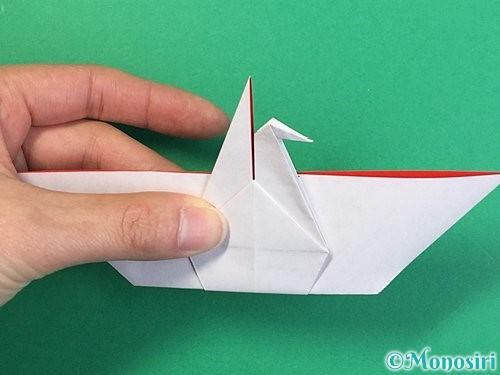折り紙で鶴リースの作り方手順41