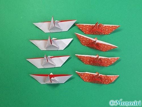 折り紙で鶴リースの作り方手順43