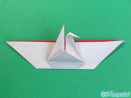 折り紙で鶴リースの作り方手順42