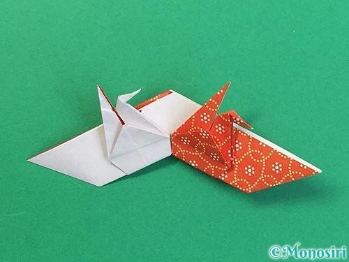 折り紙で鶴リースの作り方手順51