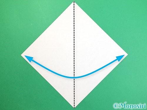 折り紙で赤鬼の顔の折り方手順1