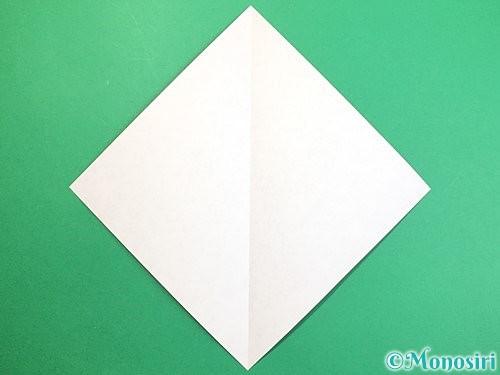 折り紙で赤鬼の顔の折り方手順2