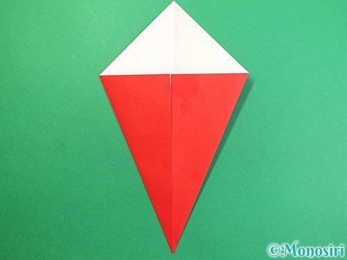 折り紙で赤鬼の顔の折り方手順4