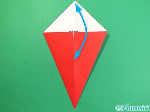 折り紙で赤鬼の顔の折り方手順5