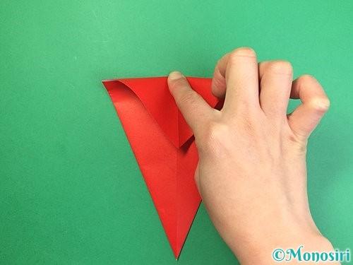 折り紙で赤鬼の顔の折り方手順6