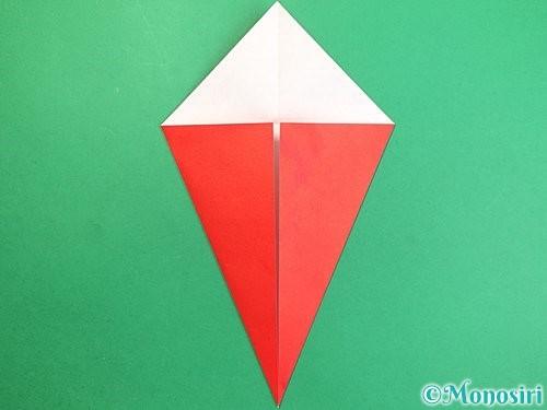 折り紙で赤鬼の顔の折り方手順7