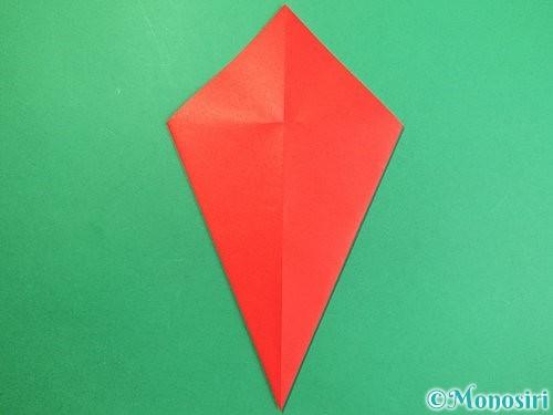 折り紙で赤鬼の顔の折り方手順8