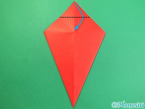 折り紙で赤鬼の顔の折り方手順9