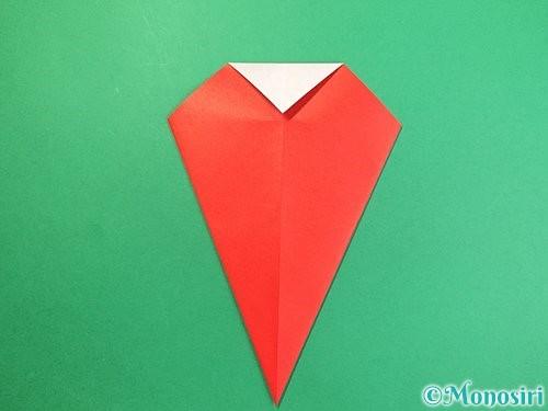 折り紙で赤鬼の顔の折り方手順10