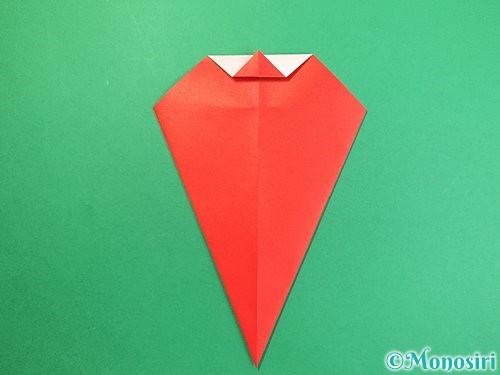 折り紙で赤鬼の顔の折り方手順12