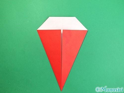 折り紙で赤鬼の顔の折り方手順13