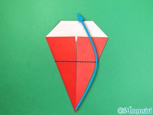 折り紙で赤鬼の顔の折り方手順14