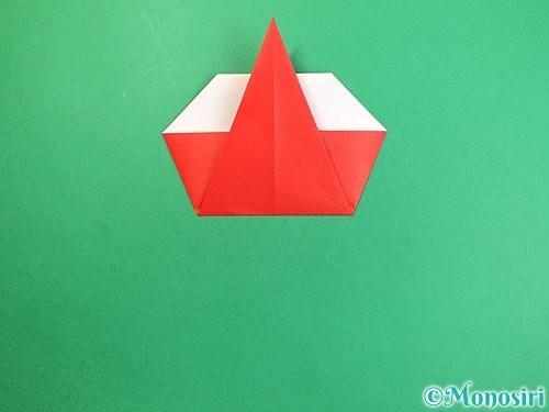 折り紙で赤鬼の顔の折り方手順15