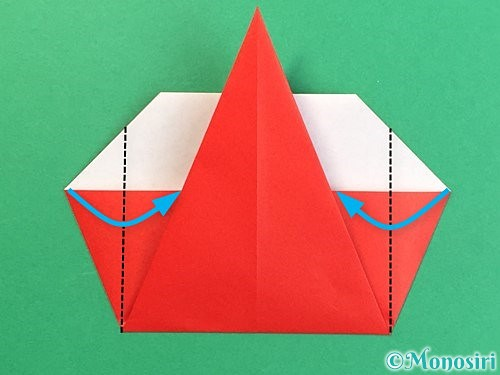 折り紙で赤鬼の顔の折り方手順16
