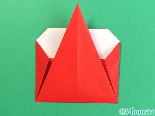 折り紙で赤鬼の顔の折り方手順17