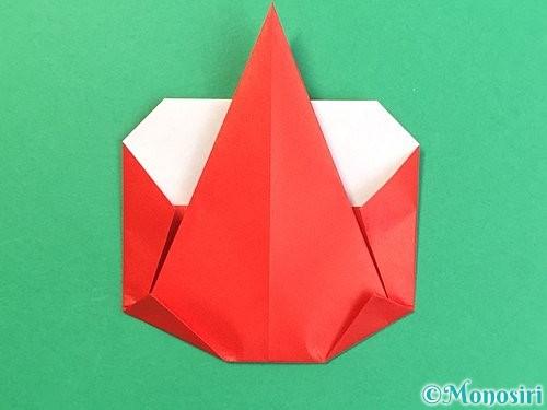 折り紙で赤鬼の顔の折り方手順19