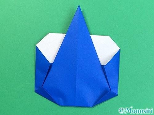 折り紙で青鬼の顔の折り方手順1