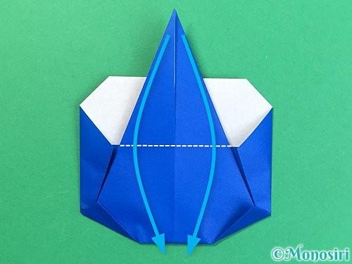 折り紙で青鬼の顔の折り方手順3