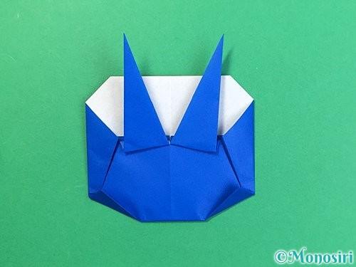 折り紙で青鬼の顔の折り方手順6