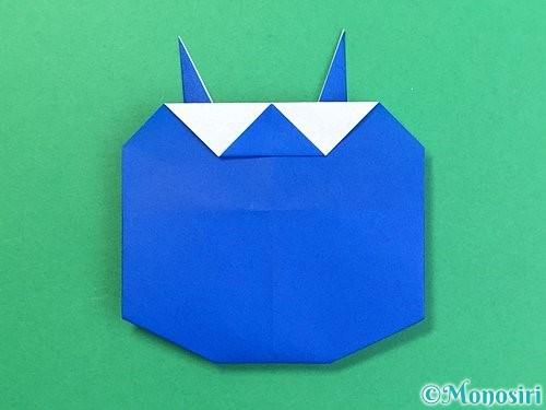 折り紙で青鬼の顔の折り方手順7