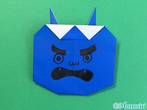 折り紙で青鬼の顔の折り方手順8