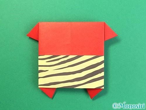折り紙で鬼の体の折り方手順20