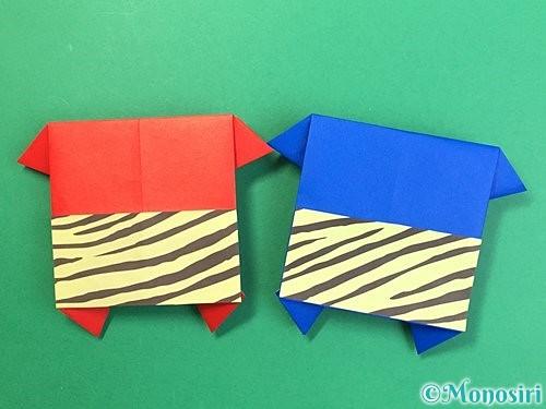 折り紙で鬼の体の折り方手順21