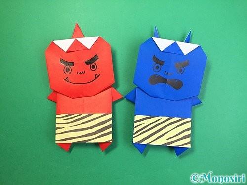 折り紙で鬼の体の折り方手順22