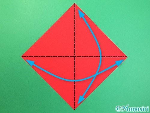 折り紙で可愛い鬼の折り方手順1