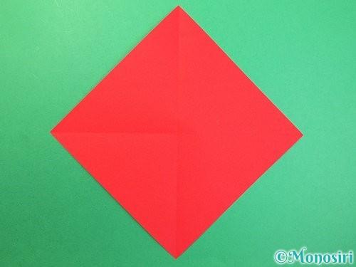 折り紙で可愛い鬼の折り方手順2