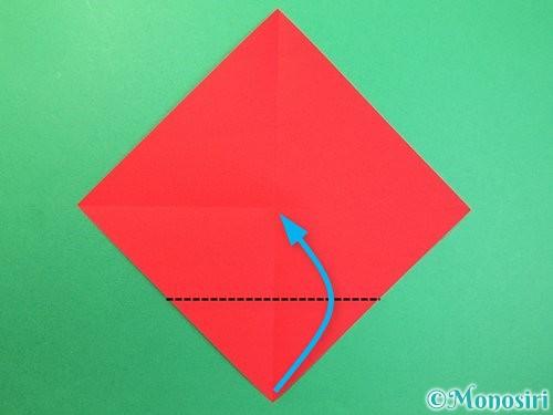 折り紙で可愛い鬼の折り方手順3