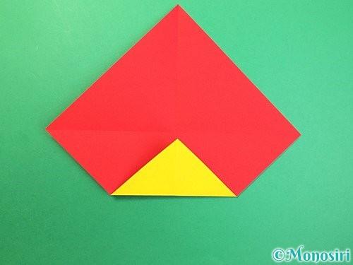 折り紙で可愛い鬼の折り方手順4
