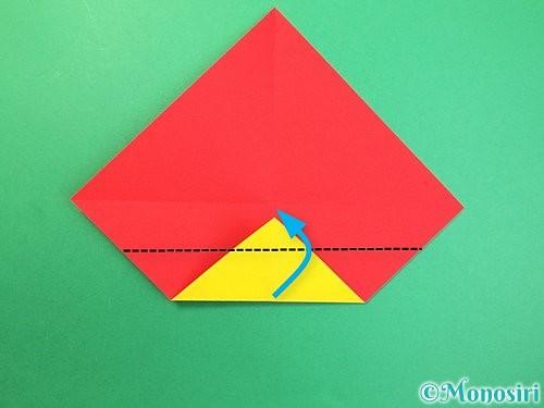 折り紙で可愛い鬼の折り方手順5