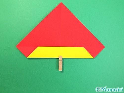 折り紙で可愛い鬼の折り方手順6