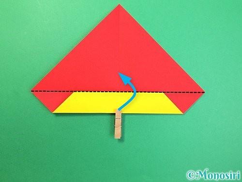 折り紙で可愛い鬼の折り方手順7