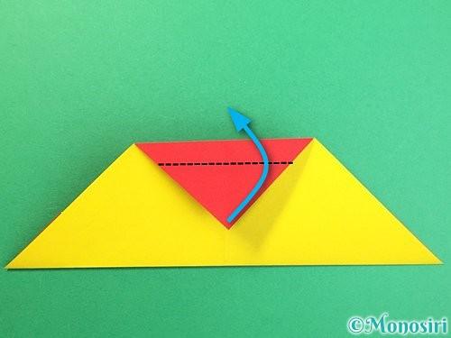 折り紙で可愛い鬼の折り方手順12