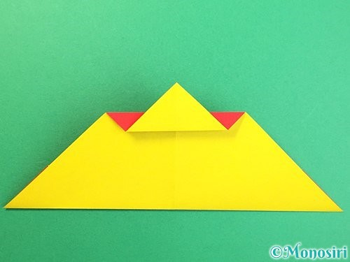 折り紙で可愛い鬼の折り方手順13