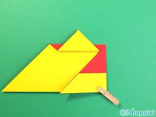 折り紙で可愛い鬼の折り方手順15