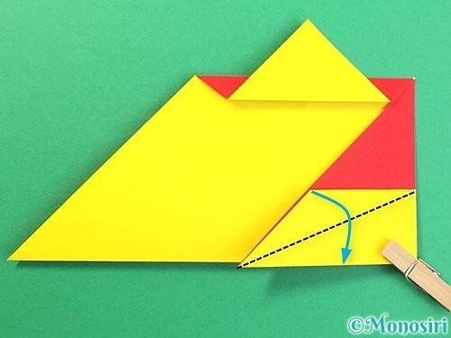 折り紙で可愛い鬼の折り方手順16