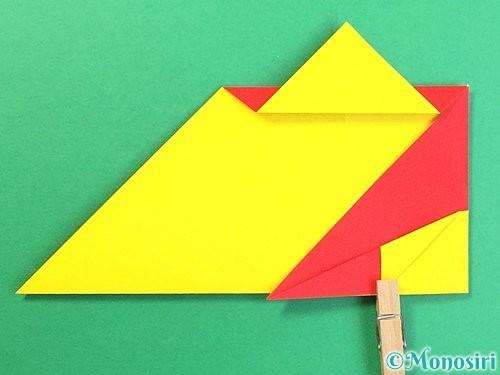 折り紙で可愛い鬼の折り方手順17