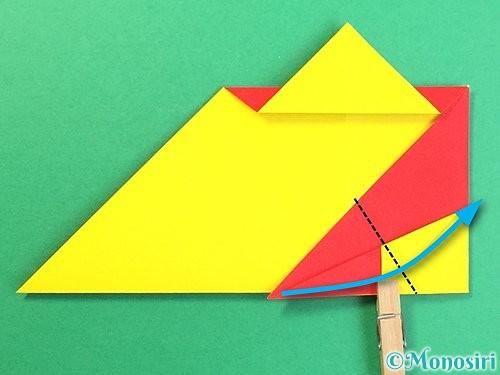 折り紙で可愛い鬼の折り方手順18