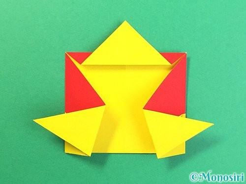 折り紙で可愛い鬼の折り方手順20