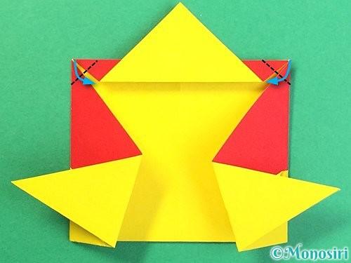 折り紙で可愛い鬼の折り方手順21