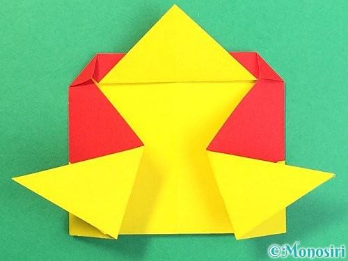 折り紙で可愛い鬼の折り方手順22