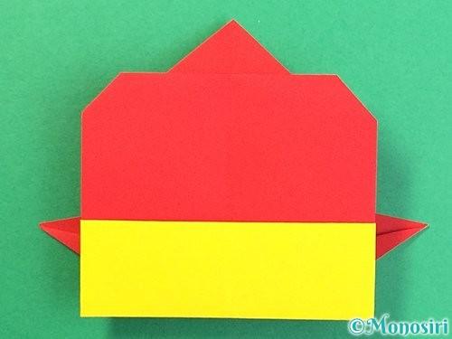 折り紙で可愛い鬼の折り方手順23