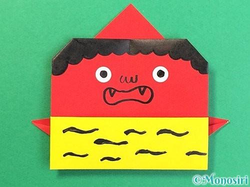折り紙で可愛い鬼の折り方手順24
